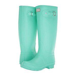 HUNTER Original Tall Ocean Swell Green Boots NEW
